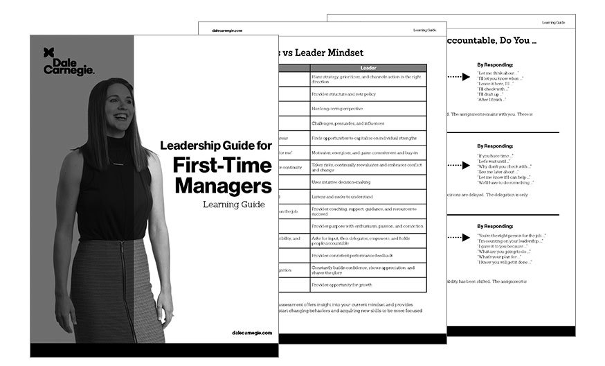 Leadership Skills for First-Time Managers - Dale Carnegie of Singapore