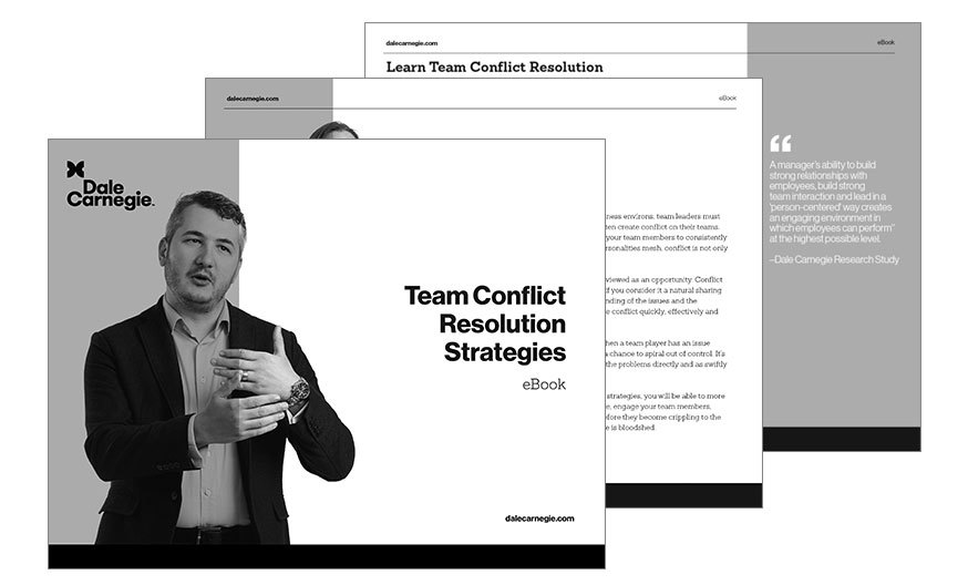 Team Conflict Resolution Strategies - Dale Carnegie of Singapore